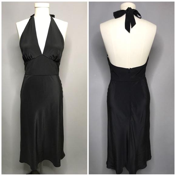 Shoshanna Dresses & Skirts - Shoshanna Black Silk Halter Dress